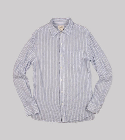FRENCH COLLAR SHIRT <br/> Wrinkle Stripe