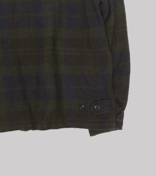 WOOL WINDBREAKER JACKET <br/> Black Watch Plaid