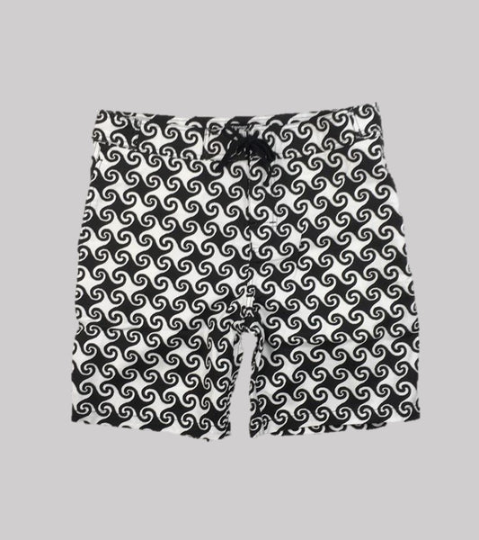 BEACHSIDE SHORT<BR/> Printed Canvas Wave