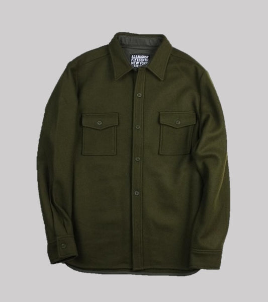 WOOL MARINER'S CPO <br/> Olive