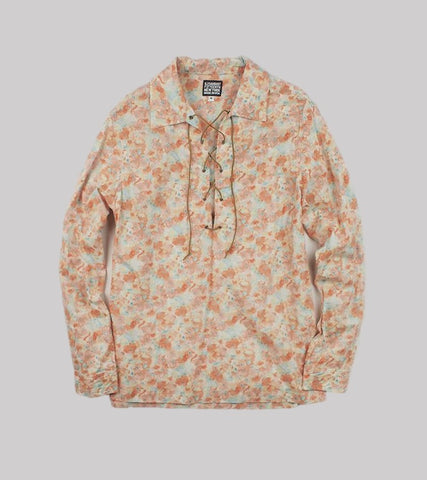 LACE-UP SHIRT <br/>   Pastel Flower