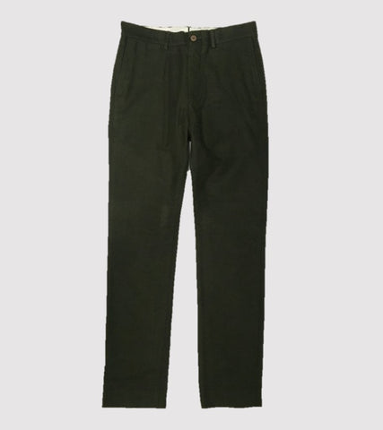 HAND TAILORED SLIM PANT <br/> Moleskin Olive