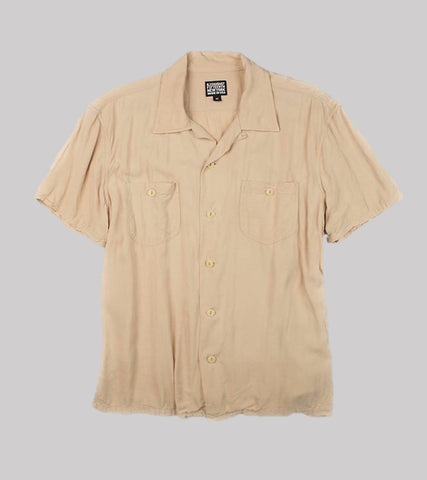 CAMP COLLAR RAYON SHIRT <br/>   Dusty Pink