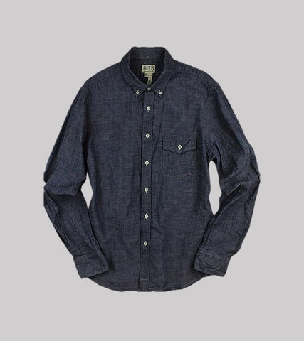 CLASSIC FIT B.D. L/S    <br/> Linen Chambray