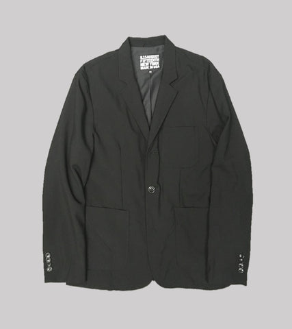 WASHED WOOL SPORT COAT <br/>  Black