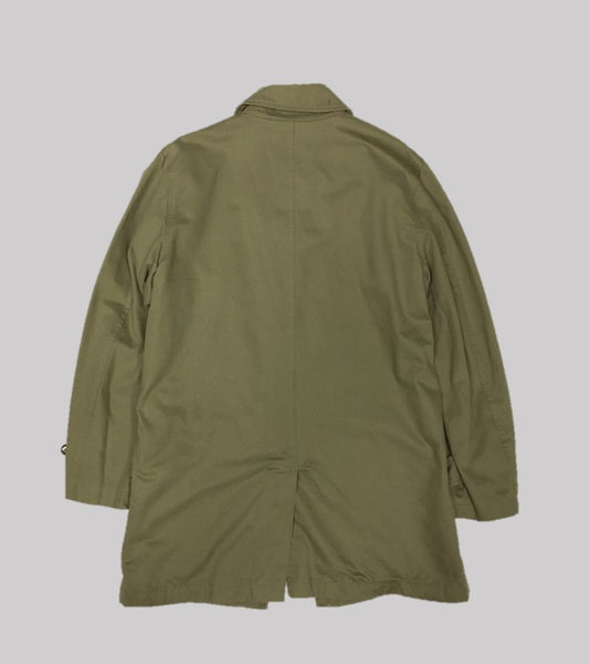BALMACAAN COAT <br/> Broken Twill Cotton-British Khaki