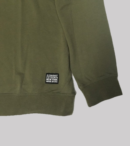 RAGLAN CREW  <br/> Olive French Terry