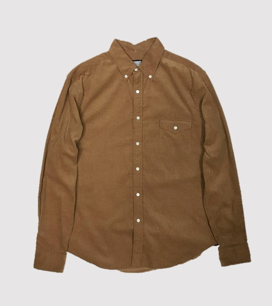 Natural Fit B.D. L/S    <br/> Corduroy Chestnut