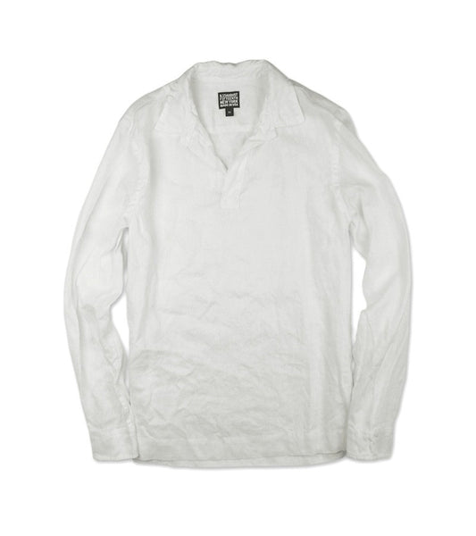 MONACO SHIRT <br/> Irish Linen  White