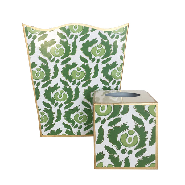 Beaufont in Green  Wastebasket,  Tissue Box sold separately