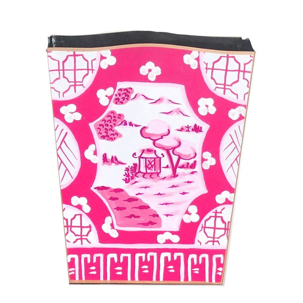Canton in Pink Wastebasket