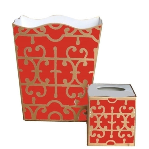 Orange Klimt Wastebasket