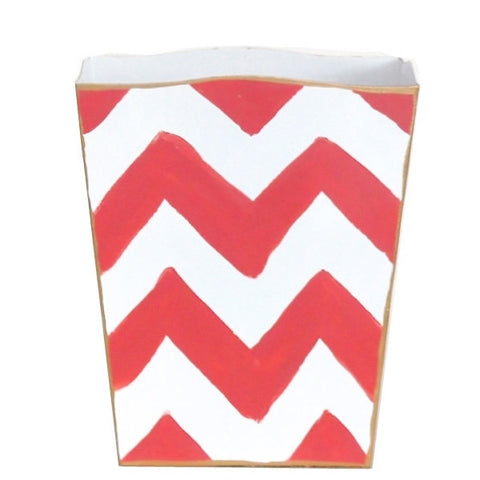 Orange Bargello Wastebasket