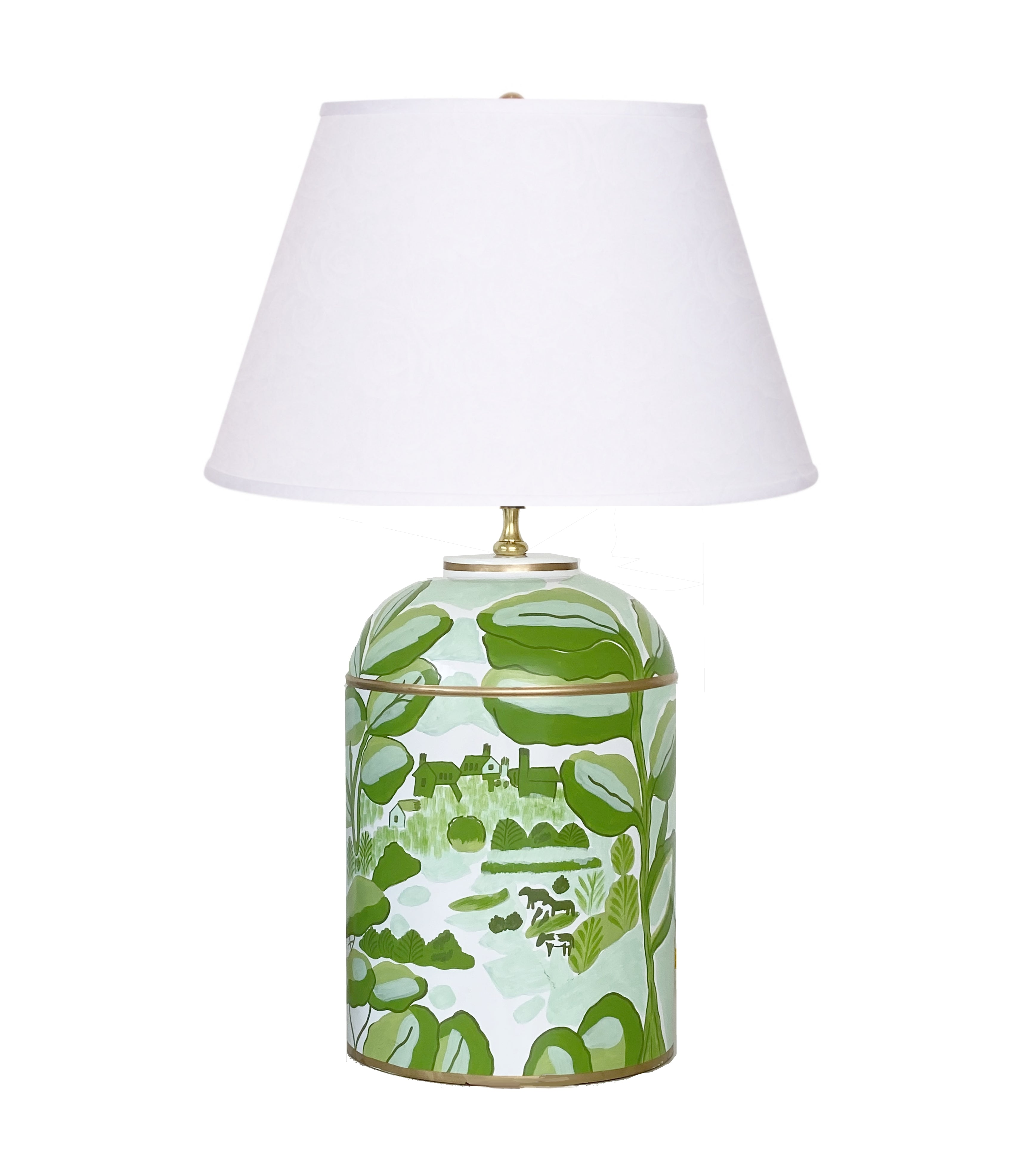Bristow in Green Tea Caddy Lamp