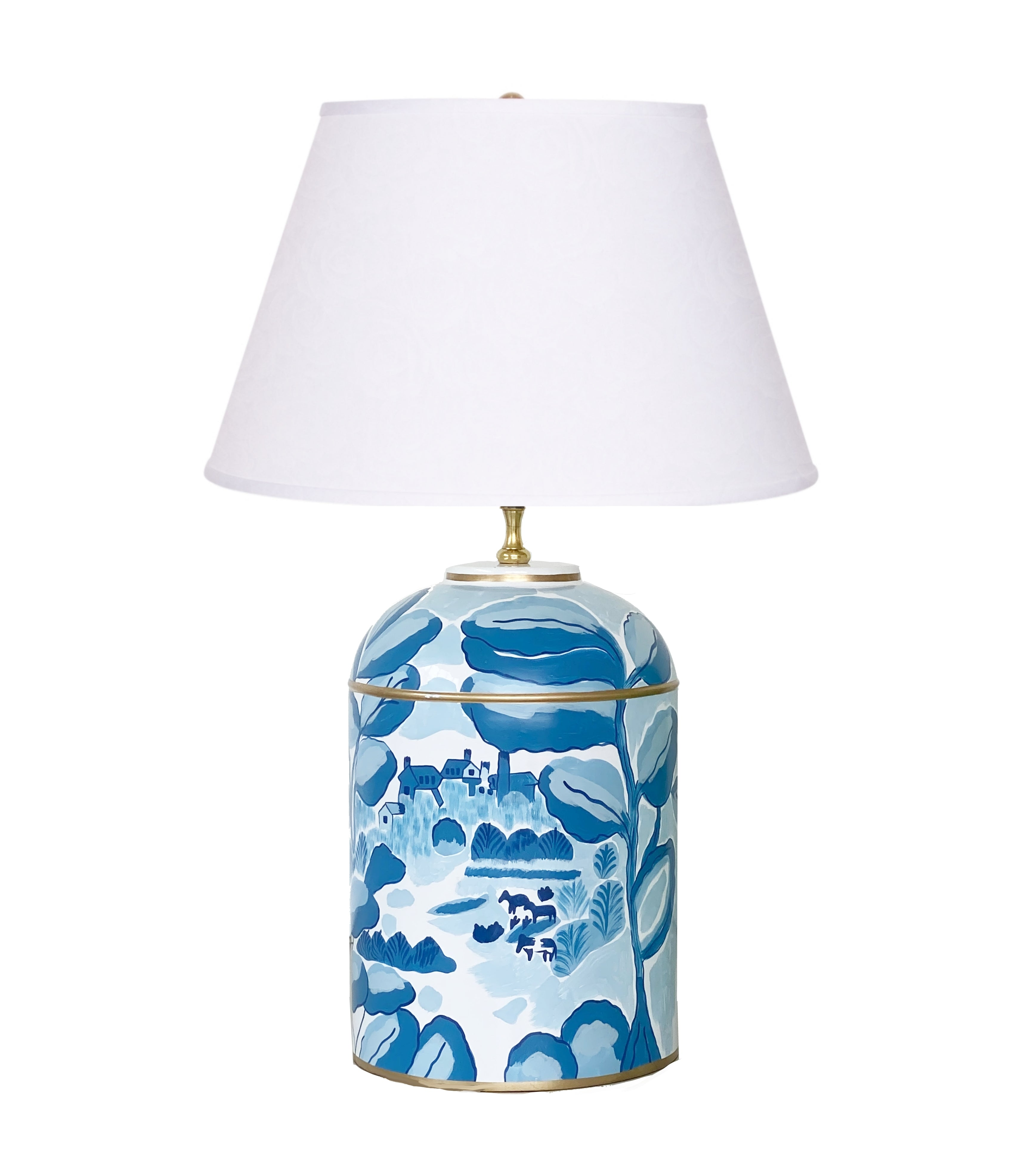 Bristow in Blue Tea Caddy Lamp