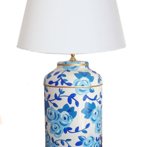 Blue Chintz  Tea Caddy Lamp