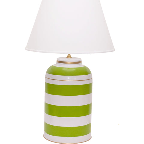 Green Stripe Tea Caddy Lamp
