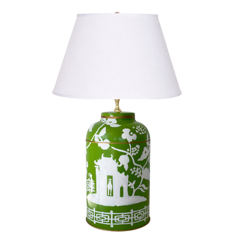 Dana Gibson Xanadu  in Green Tea Caddy Lamp