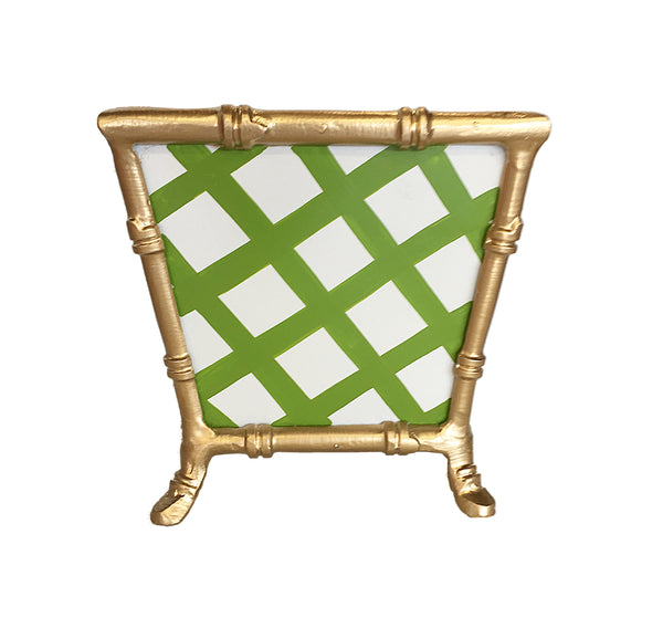 Bamboo in Green Lattice Cachepot