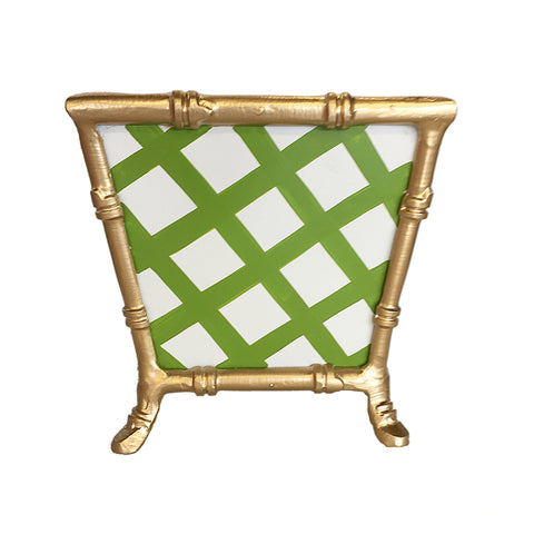 Dana Gibson  Bamboo in Green Lattice Cachepot