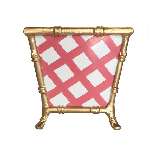 Bamboo in Pink Lattice Cachepot