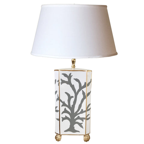 Grey  Coral Table Lamp