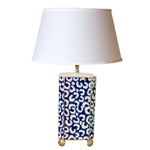 Navy Leo Table Lamp