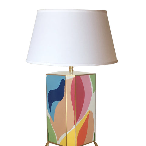 Modern Art Lamp with White Shade, Small