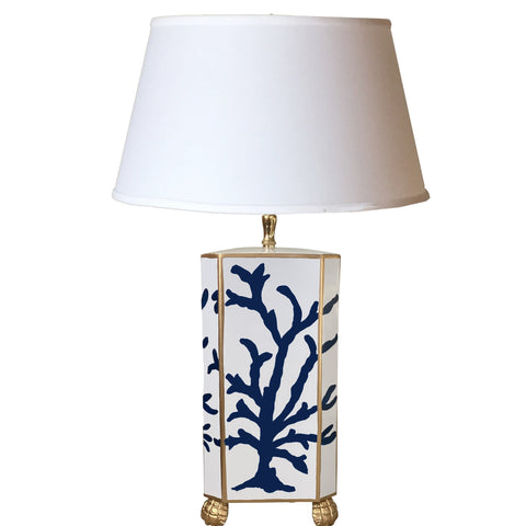 Navy Coral Table Lamp