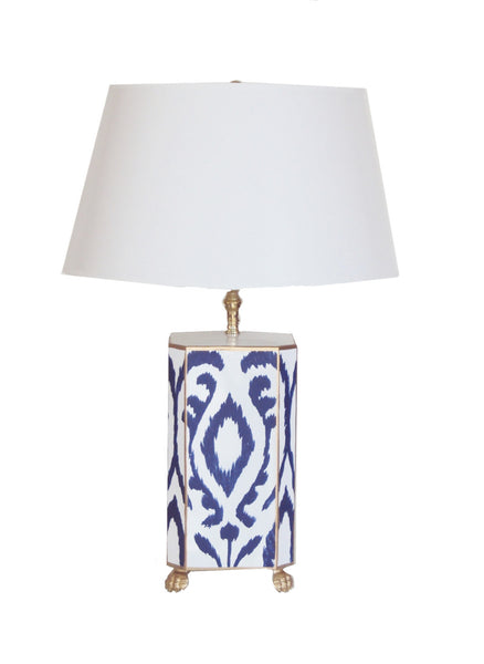 Navy Ikat Lamp