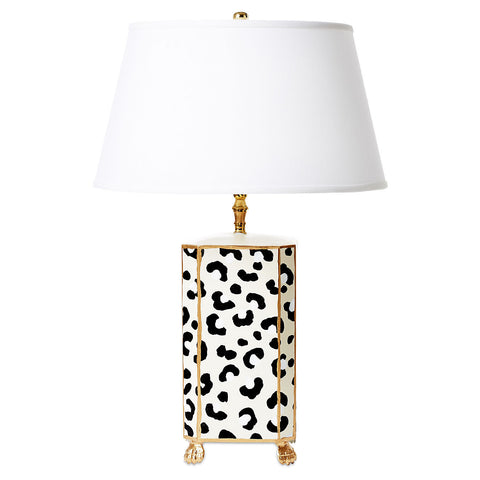 White Leopard Lamp