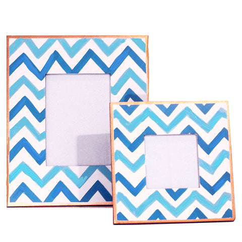 Blue Bargello Picture Frame, Large or Small
