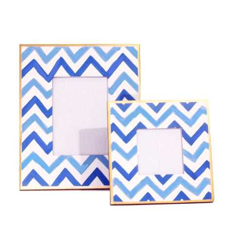 Copy of Blue Bargello Picture Frame, Large or Small