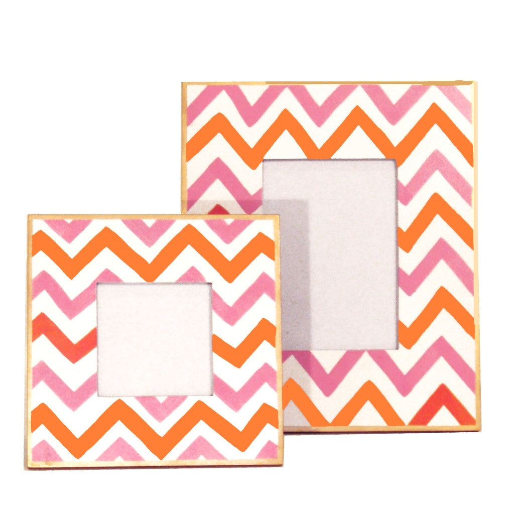 Pink Bargello Picture Frame, Large or Small