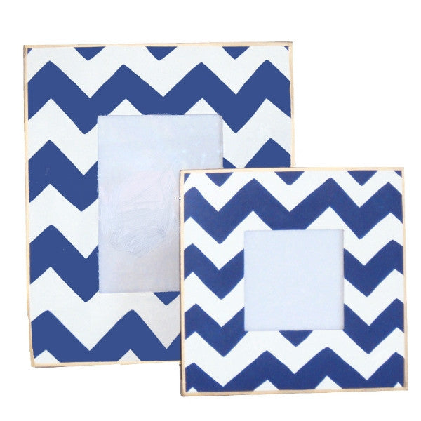 Navy Bargello Frame, Large or Small