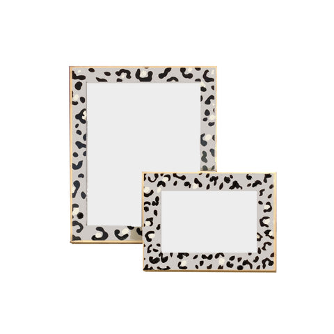 White Leopard Frame, Large or Small