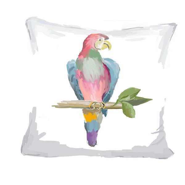 Parrot Pillow in Multi, 18""