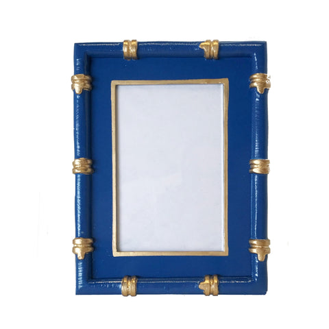 Bamboo in Navy Picture Frame by Dana Gibson