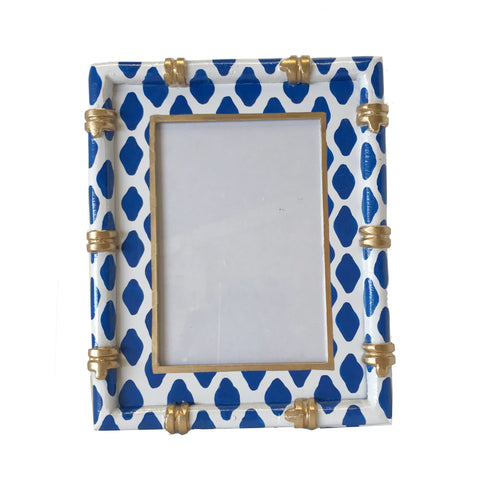 Bamboo in Parsi Navy Picture Frame