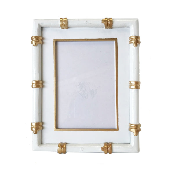 Bamboo in White Picture Frame