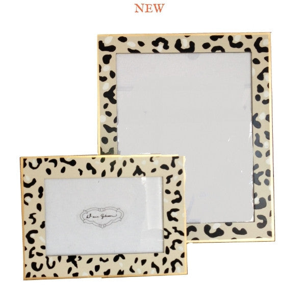 White Leopard Picture Frame, large or small