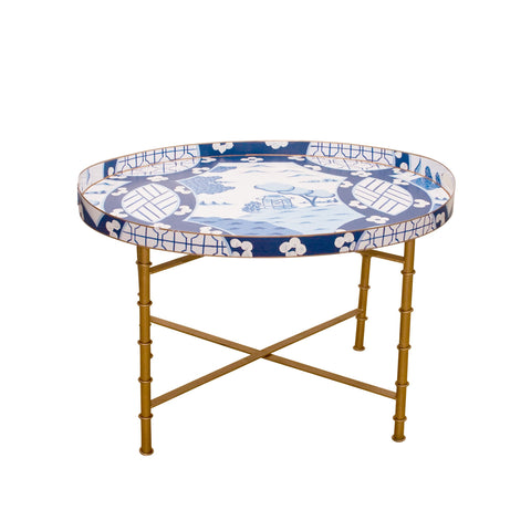 Canton in Blue Tray Table or Bar
