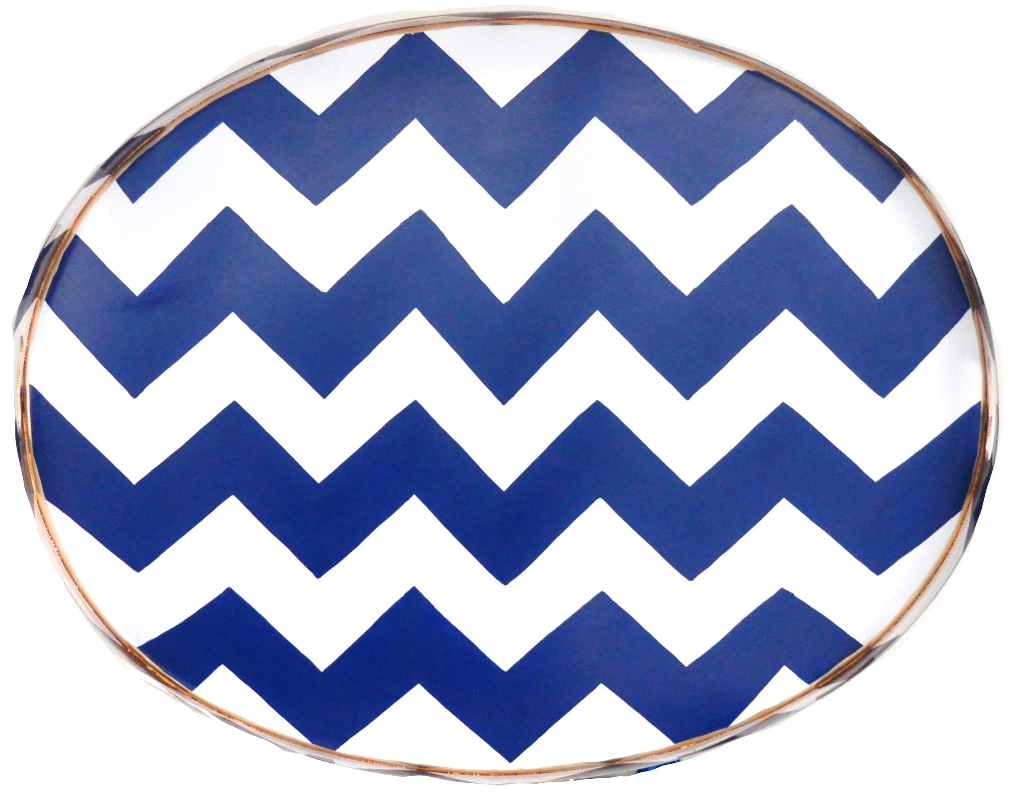Navy Bargello Tray/Large