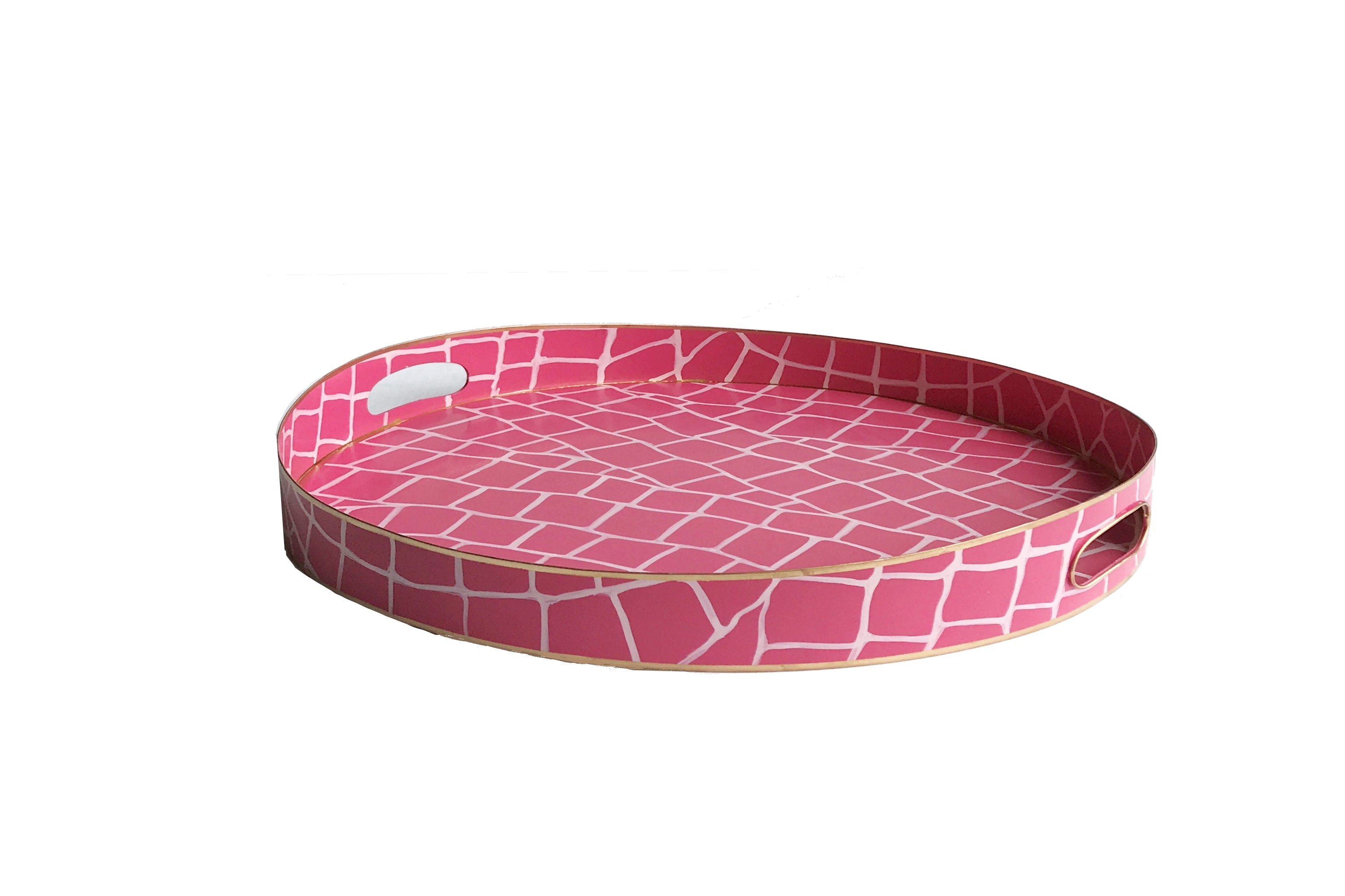 Pink Croc Tray/Small