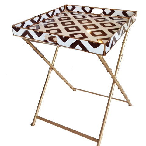 Baratta in Brown Side Table