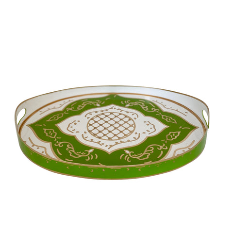 Jules in Green Oval Tray