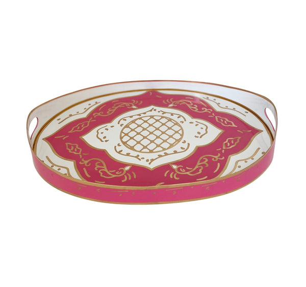 Jules in Pink Oval Tray