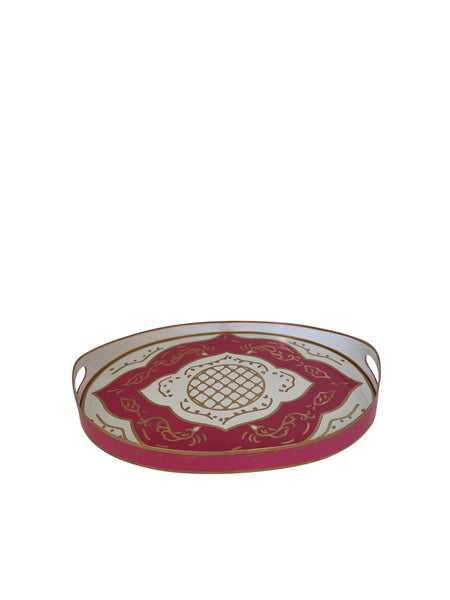 Oval Tray in Jules in Pink