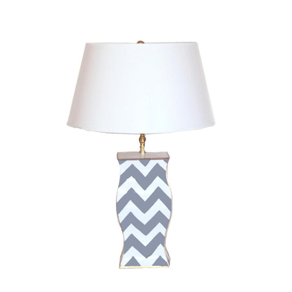 Grey Bargello Lamp