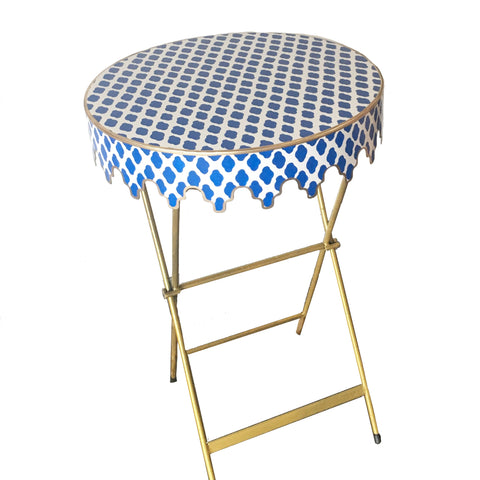 Glenbrook Table in Navy Parsi
